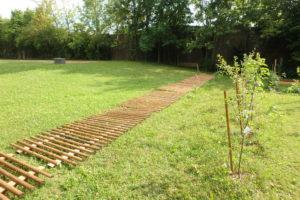 Zaunbau Gemeinschaftsgarten Prohlis